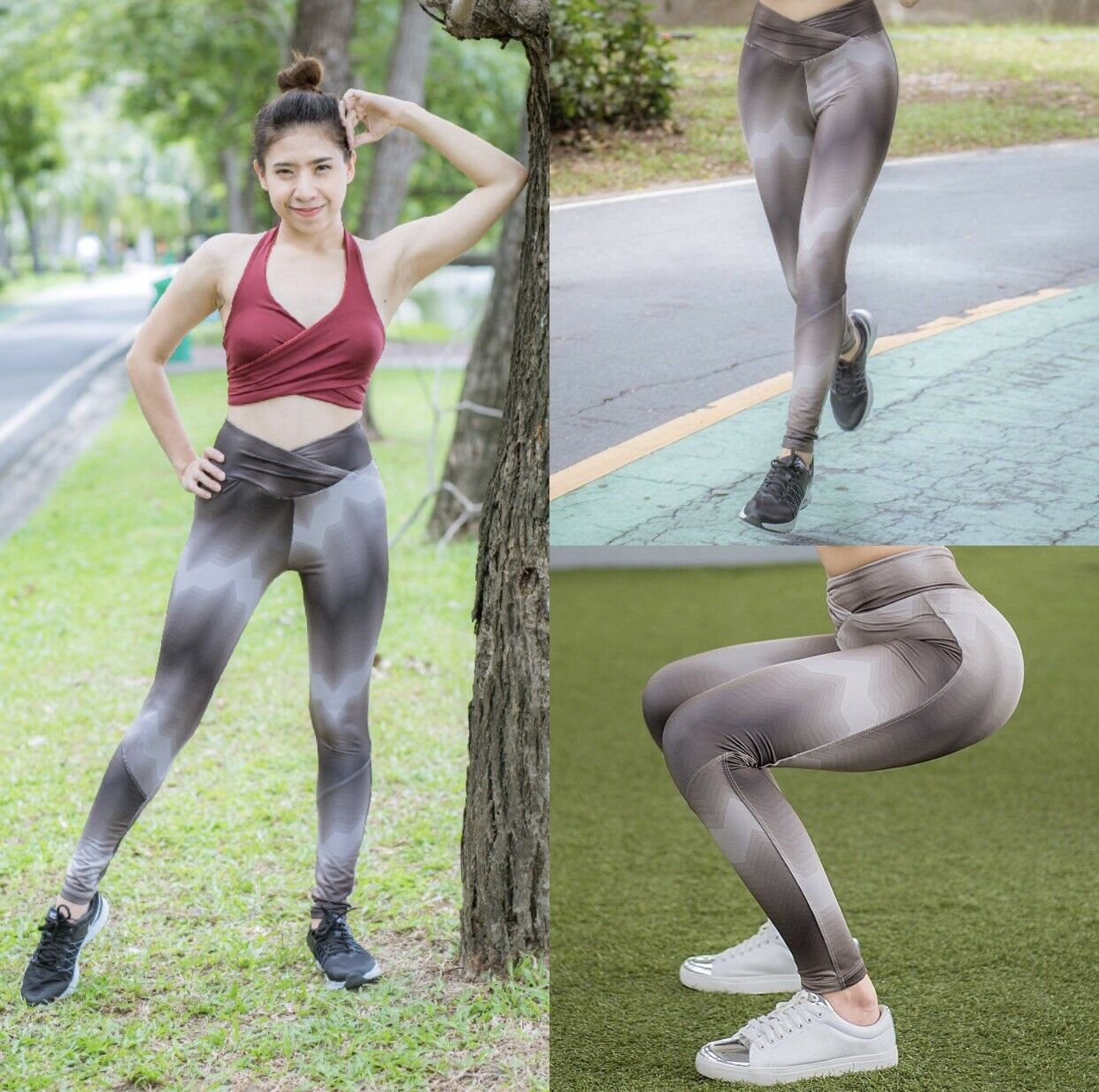 Women Yoga Fitness Leggings Running Gym Stretch Workout Sports Excercise
