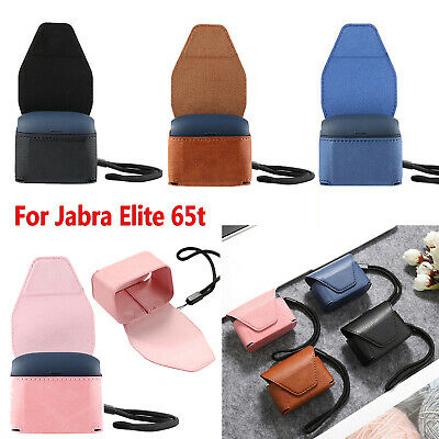 Leather Case Cover Bag Pouch Lanyard For Jabra Elite 65t True Wireless Earphone Ebay