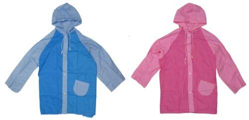 100/% Waterproof Raincoat w// Hood /& Pocket Lightweight Vinyl Children Size 10 New