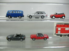 AJ381-0,5# 5x Schuco H0 PKW-Modell: BMW+Mini Cooper+Mercedes MB+Volkwagen VW etc