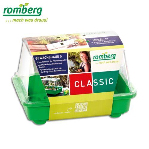 Romberg 1 x Gewächshaus S zur Pflanzenanzucht29x19x19cmgrüne Schale
