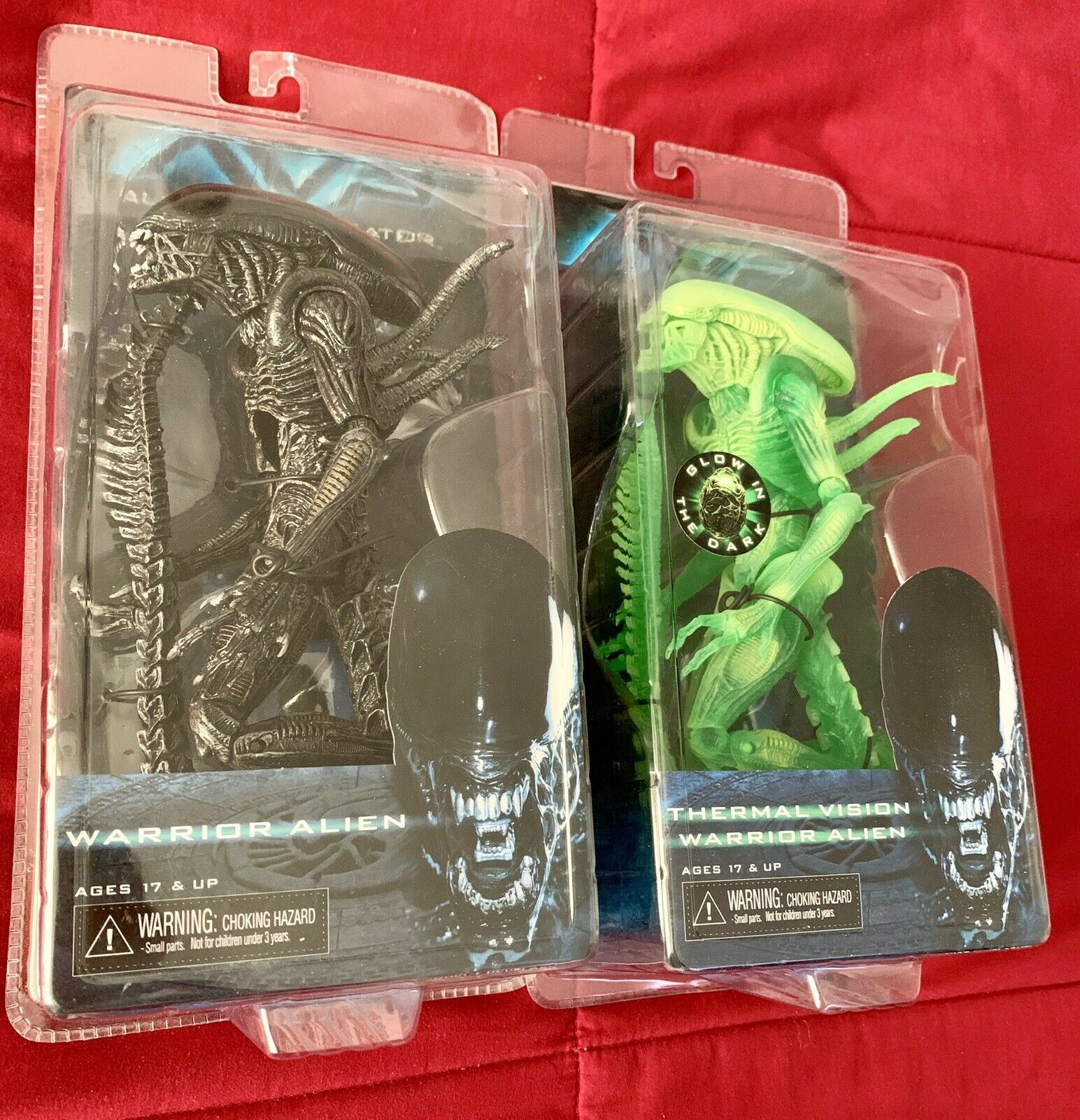NECA AVP Aliens WARRIOR Xenomorph Glow In The Dark Lot New
