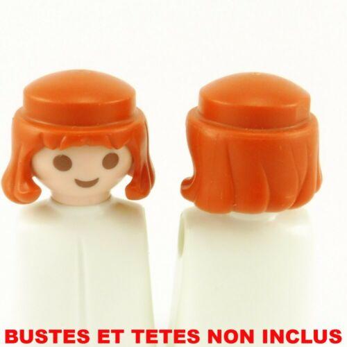 22184 Playmobil Lot de 2 Cheveux pour Homme Moyen Age Oranges Foncés