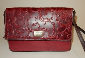 Image Is Loading Tignanello Vintage Leather Crossbody Handbag Carson In Chianti