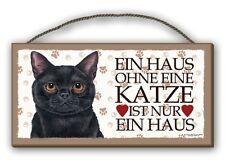 SCHWARZE KATZE - HOLZSCHILD + KAFFEEBECHER IM SET KATZE  54