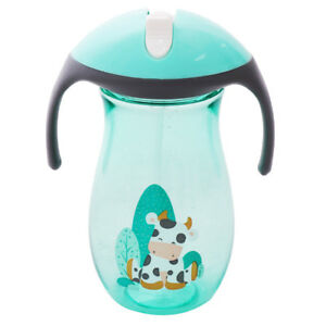 Kids Baby Sippy Handle Drinking Water Bottle Cup Straw Toddler Infant Anti-Spill