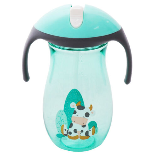 Baby Sippy Drinking Water Bottle Cup Straw Kids Infant Children Anti Spill