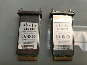 Lot of 2 Cisco CVR-X2-SFP V02 TwinGig Converter Module