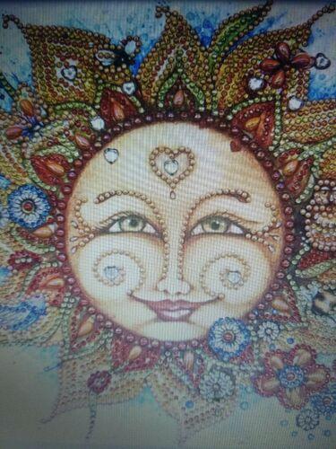 Sun mosaic crystal diamond painting  30cmx30cm free shipping from the U.S