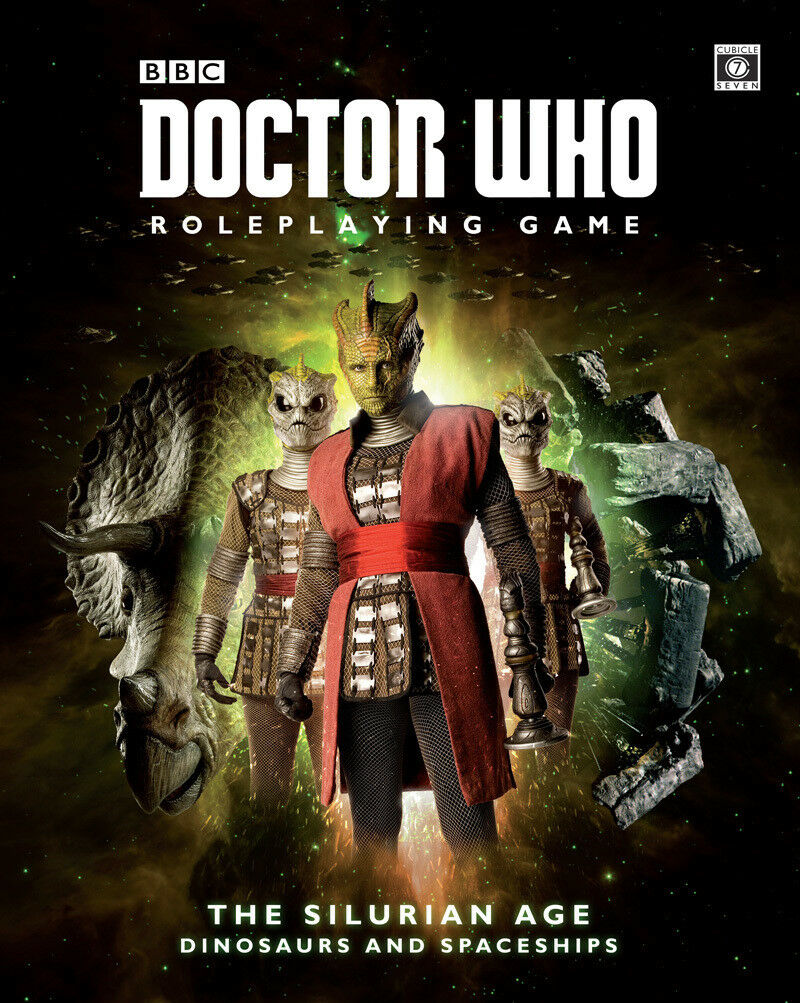 DOCTOR WHO ROLEPLAYING GAME - SILURIAN AGE DINOSAURS AND SPACESHIPS - CUBICLE 7