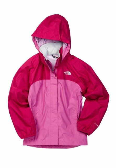 d0c6d3582 The North Face Girls Pink Resolve Reflective HYVENT Waterproof Jacket Size L
