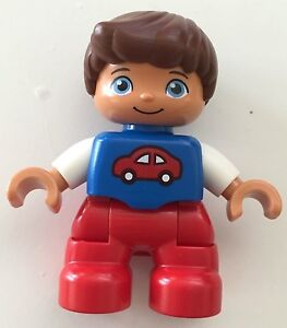 *NEW* Lego DUPLO BOY RED Legs White Top SKATE RED Cap