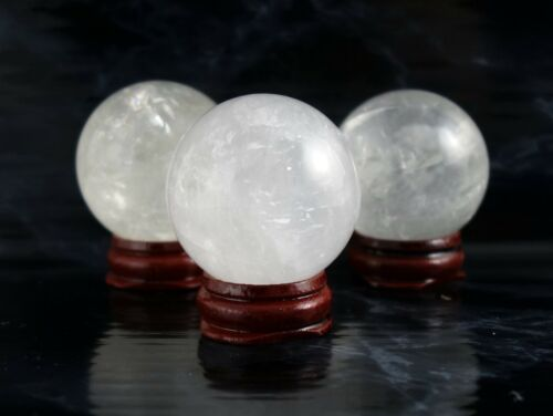 Healing Pick your Size Meditation Crystal Ball Scrying Clear Quartz Spheres