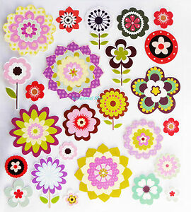 FLOWER GLITTER STICKERS, EMBELISHMENTS, SCRAPBOOKING ...