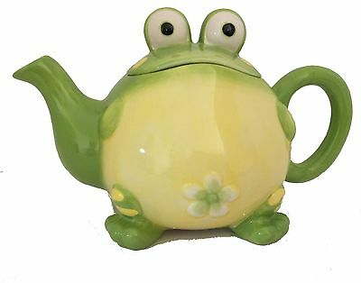 Toby theToad Teapot Ceramic 32 Oz FDA Approved New in Gift Box burton+Burton