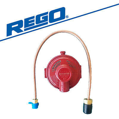 Rego LP Regulator Twin Stage LV3403TR Mini Propane Tank