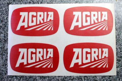 4 Agria Aufkleber für Motorhacken,Bodenfräsen Sichelmulcher Farbauswahl