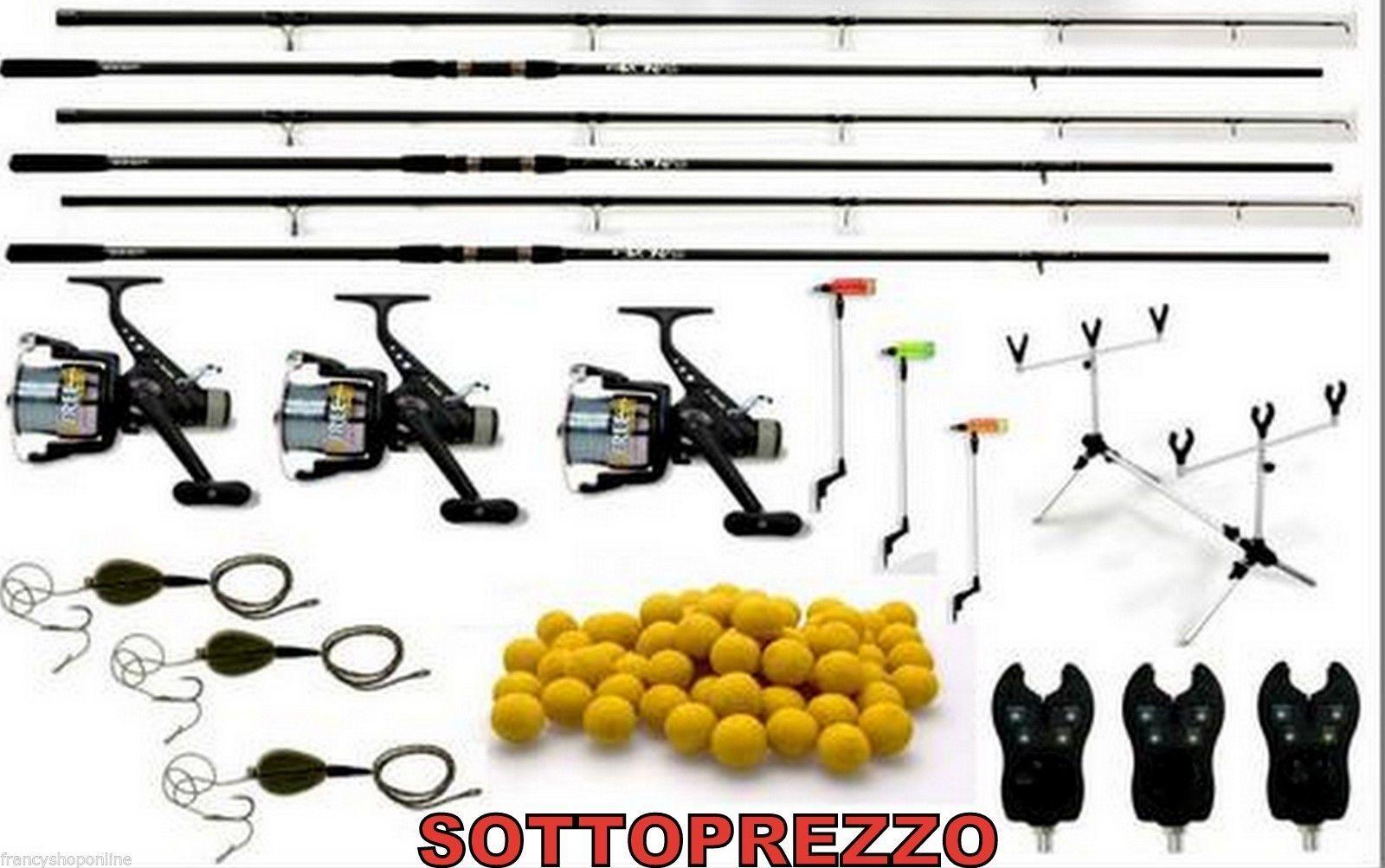 Kit autop fishing cannemulinelli  avvisatori acustici boilies rod pod PB2710