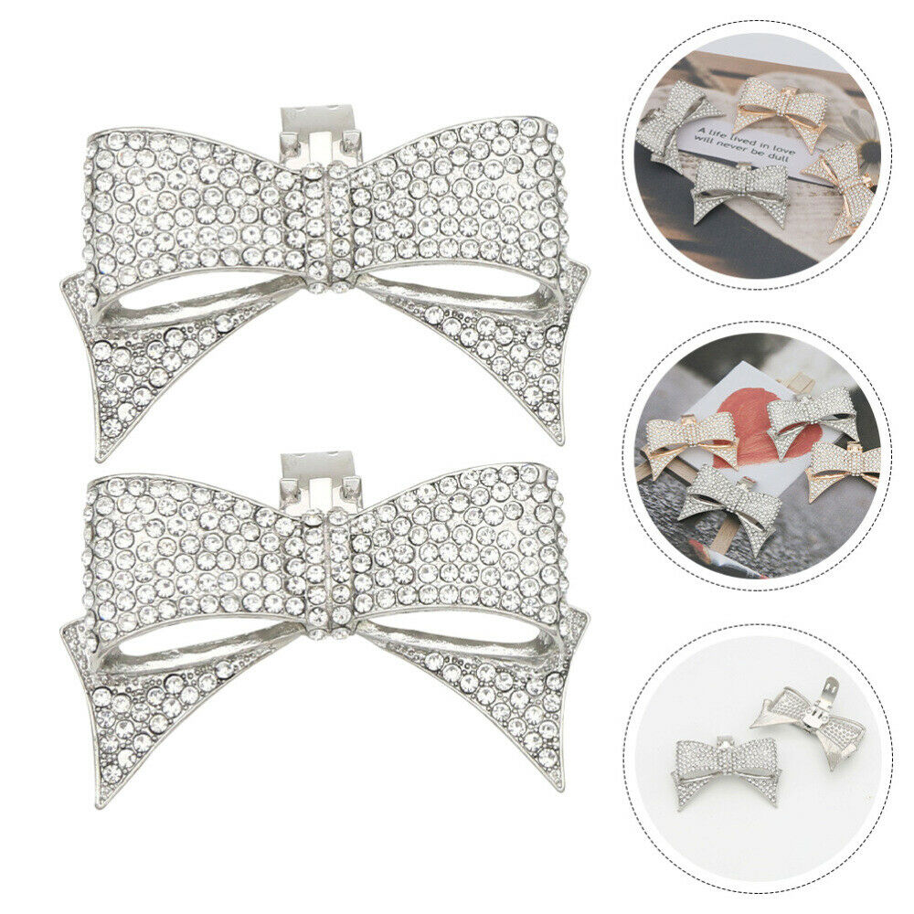 1 Pair Shoes Charm Bow-knot Shaped Ornament for Lady Women Shoes