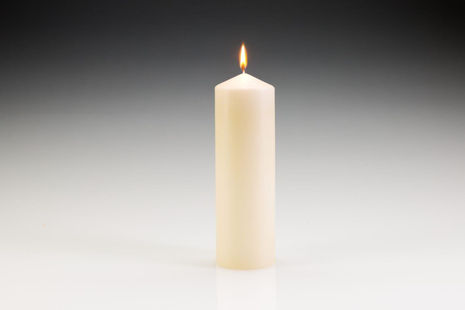 10 x Pillar Church Candles 220mm (H) x 70mm (D).