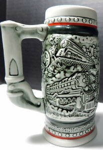 Beer-Stein-Ceramic-Iron-Horse-1989-039-s-Boxed