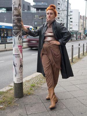 Intenzionale Viscosa Pantaloni Pieghe Pantaloni High Waist Braun 90s True Vintage 90´s Cotton Pants-mostra Il Titolo Originale Prestazioni Affidabili