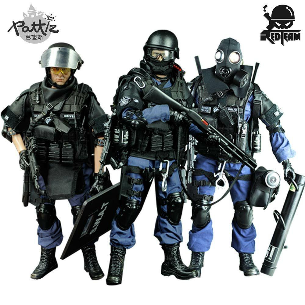 Pattiz échelle 1 6 Militaire Soldat Figure Jouets Set de collection US Swat Team Model