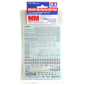 Tamiya-12625-WWII-German-Military-Insignia-Decal-Set-for-1-16-1-35-Figures