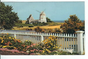 CG-042-MA-West-Harwich-Cape-Cod-Windmill-at-Old-Mill-Point-Chrome-Postcard