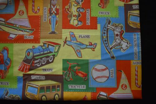 Baby's vintage toys bassinett flat sheet set of 2 handmade