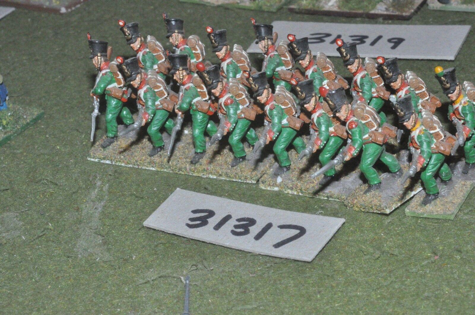 25mm napoleónicas francés-Allied línea 16 figuras-INF (31317)