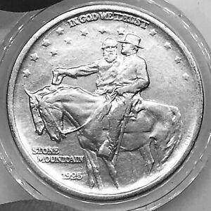 USA 1/2$ 1925 Stone Mountain Memorial KM#157 Silver aVF