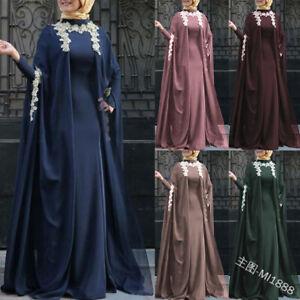 Dubai Fack Two Pieces Women Cocktail Party Muslim Abaya Dress Islamic Long Robes Ebay