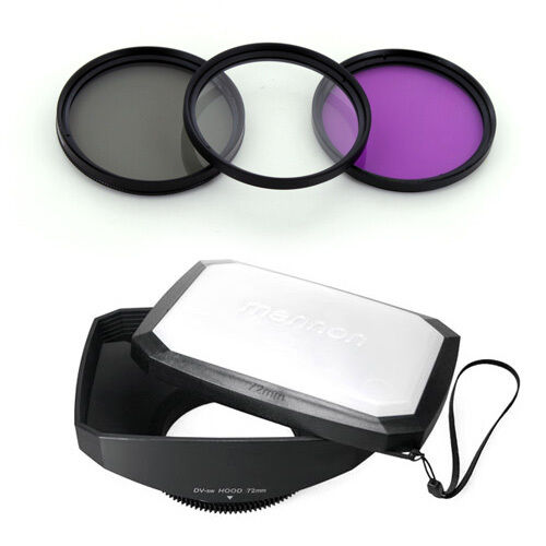 72mm 16:9 Wide Lens Hood,Filter Kit for Nikon Nikkor 24-120mm AF-S lens,18-200mm