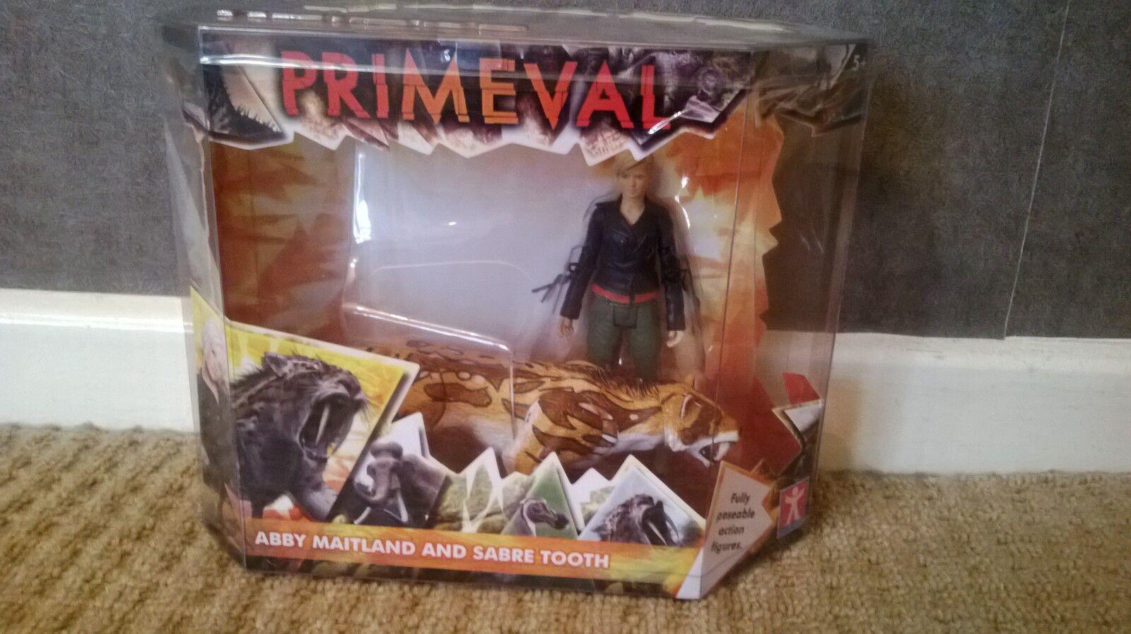 Rare Brand New Primeval Primeval Primeval Abby Maitland & Sabre Tooth Tiger Action Figure Set 858793