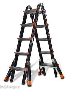 22 1A Fiberglass Little Giant Dark Horse Ladder w/Platform 15145