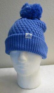 NWT Adidas Youth Girls Twilight 2 Lurex Ballie Beanie Hat OSFA Real Blue MSRP$20