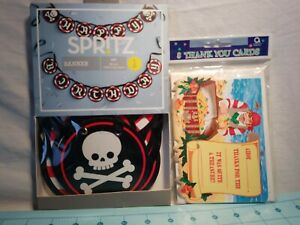 Details about Spritz- Pirate Happy Birthday Banner & Set of 8 Pirate Thank  You Cards by Amscan