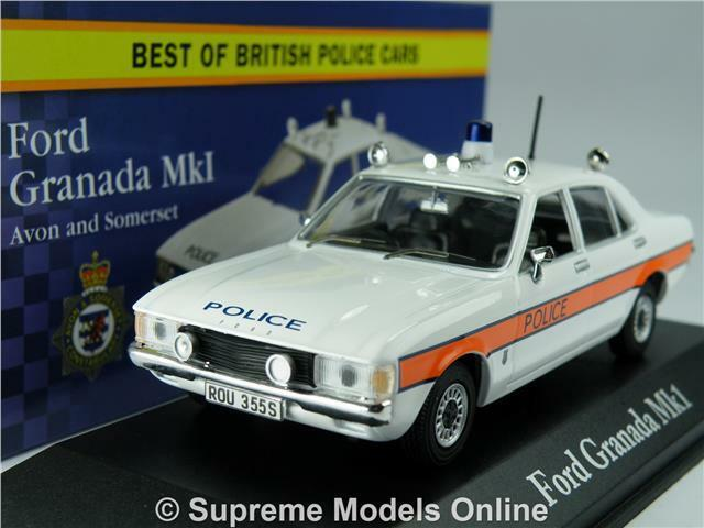 FORD GRANADA MK1 MODEL CAR POLICE AVON & SOMERSET 1:43 CORGI VANGUARDS  ATLAS K8