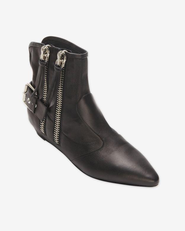 Giuseppe Zanotti Chelsea Zipper Buckle Booties $1,225 Size 40EUR/10US