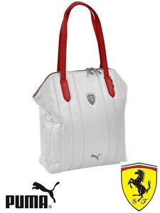 109b3ab75541 WOMEN Puma Ferrari LS Shopper Bag White ( Ferrari official licensed ...