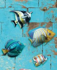 Primus Metal Blue Tang Tropical Fish Wall Art Hand Finished PA2040
