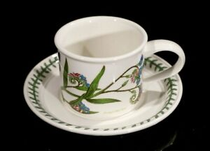 Beautiful-Portmeirion-Botanic-Garden-Forget-Me-Not-Flat-Drum-Cup-And-Saucer