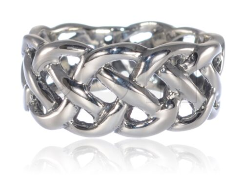 9 mm Homme ou Womans Infinity Celtic Swirl Crossover knot ring sterling silver