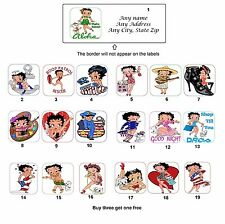 Personalized Return Address Betty Boop Labels Buy 3 get 1 free (mo1)