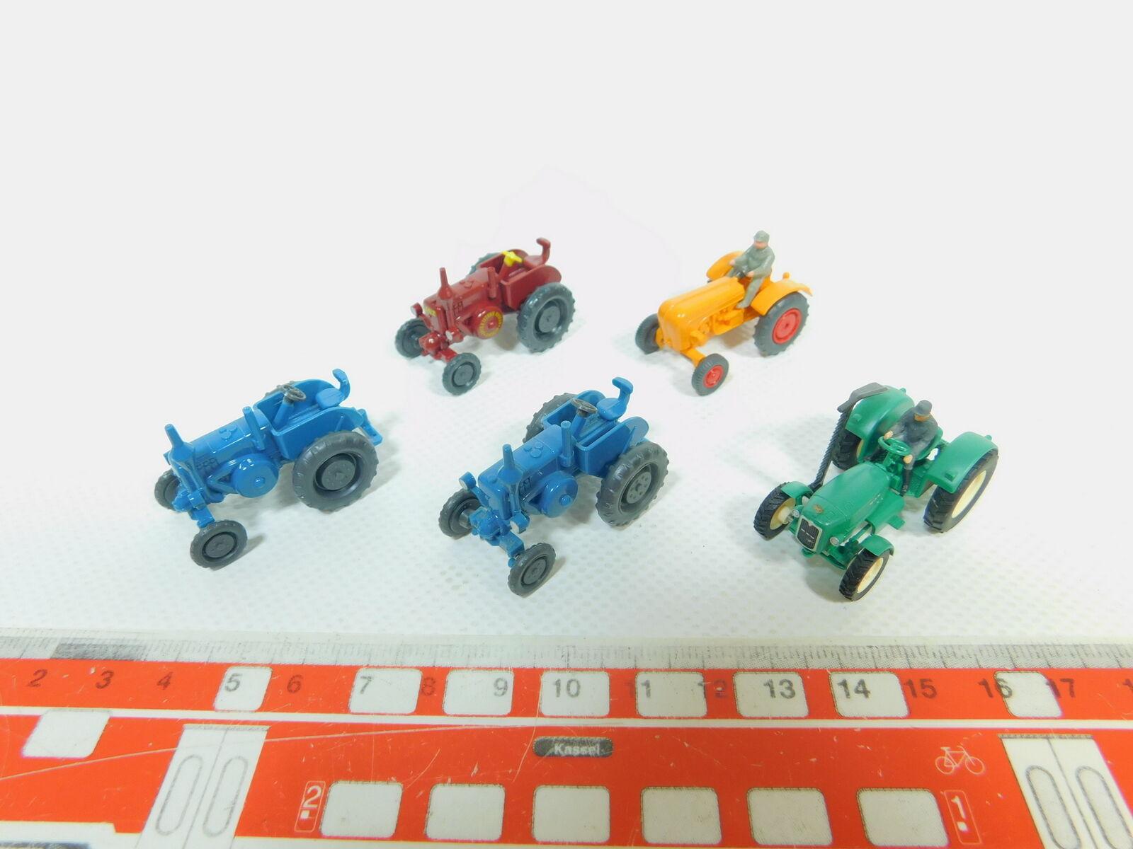 BO492-0, 5 x Wiking H0   1 1 1 87 Tractor Bulldog Tractor  Porsche etc. , Mint 5d2b79