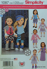 """Simplicity 1087 PATTERN fits 18"""" American Girl DOLL CLOTHES Steampunk Clothing"""