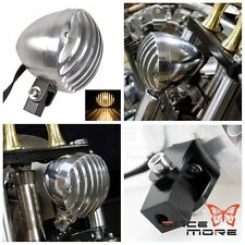Aluminum Motorcycle Supermoto H4 Headlight Grille For Harley Old School Choppers
