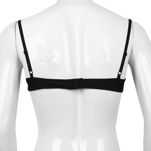 UK /_Sissy Mens Lingerie Floral Lace Bralette Bra Top Bikini Underwear Nightwear
