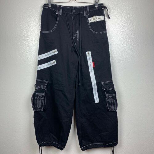 Tripp NYC Men's Baggie Zipper Cargo Pants in Black